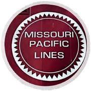 Missouri Pacific Lines Round Beach Towel