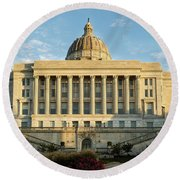 Missouri State Capital Round Beach Towel