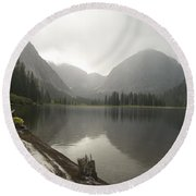 Misty Fjord 2 Round Beach Towel