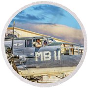 Marine Mitchell B-25 Pbj  Round Beach Towel