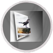 Mockingbird Round Beach Towel