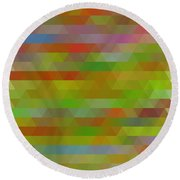 Modern Abstract Mosaic Color Combination 5 Round Beach Towel