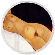 Modigliani Nude 1917 Round Beach Towel