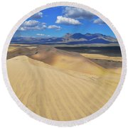 Mojave Kelso Dunes Landscape Round Beach Towel