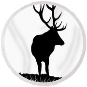 Monarch Of The Park  Round Beach Towel