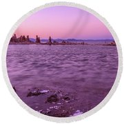 Mono Lake California Round Beach Towel