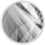 Monochrome White Abstract Vector Background, Gray Transparent Wa Round Beach Towel