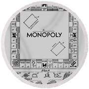 Monopoly Patent 1935 Round Beach Towel