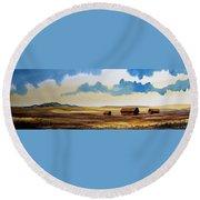 Montana Landscape Round Beach Towel