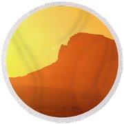 Monument Valley Sunrise Round Beach Towel