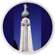 Monumento Al Divino Salvador Del Mundo Round Beach Towel