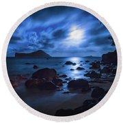 Moon Glow Round Beach Towel