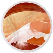 Moon Over The Mountains Round Beach Towel