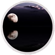 Moonlight Shadow Round Beach Towel