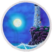 Moonlight Vigil Round Beach Towel