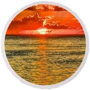 Moorea Sunset Round Beach Towel