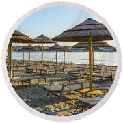 Morning Beach Round Beach Towel