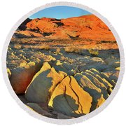 Morning Comes To Valley Of Fire Round Beach Towel