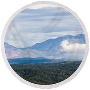 Mosquito Range Mountains In Storm Clouds Round Beach Towel