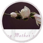 Mothers Day Card Round Beach Towel