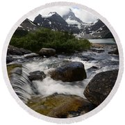 Mount Assiniboine Canada 17 Round Beach Towel
