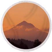 Mount Hood, Oregon, Usa Round Beach Towel