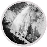 Mount Rainier National Park Round Beach Towel