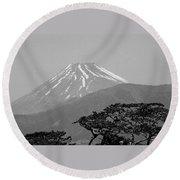 Mt. Fuji Round Beach Towel