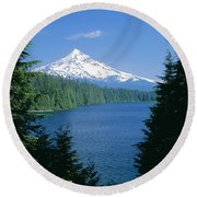 Mt. Hood National Forest Round Beach Towel
