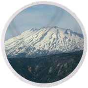 Mt St Helens  Round Beach Towel