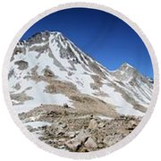 Muir Pass Panorama From High Above - John Muir Trail Round Beach Towel