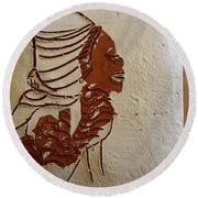 Mums Here - Tile Round Beach Towel