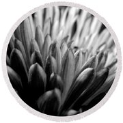 Monochrome Flower Series - Mumz The Word Round Beach Towel