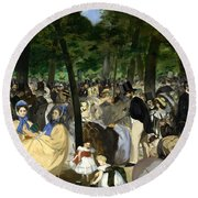 Music In The Tuileries Round Beach Towel