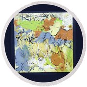 My Wild Garden Round Beach Towel