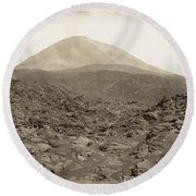 Naples: Mt. Vesuvius Round Beach Towel