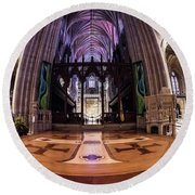 National Cathedral - 2 Round Beach Towel