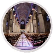 National Cathedral - 3 Round Beach Towel