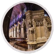 National Cathedral Round Beach Towel