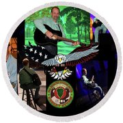 National Veterans Creative Arts Festival Round Beach Towel