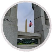 National World War II Memorial Round Beach Towel
