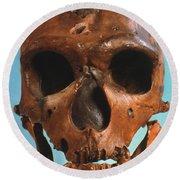 Neanderthal Skull Round Beach Towel