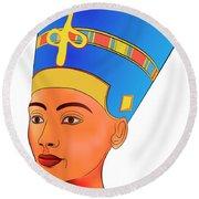 Nefertiti Round Beach Towel