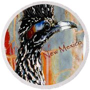 New Mexico Roadrunner Round Beach Towel