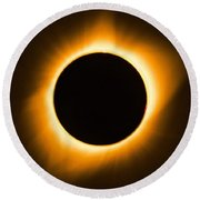 Total Eclipse Round Beach Towel