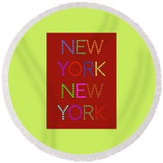 New York No 1 Round Beach Towel