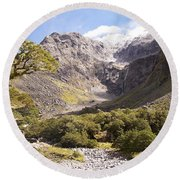 New Zealand Landscape Round Beach Towel