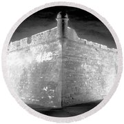 Night At The Castillo Round Beach Towel by David Lee Thompson