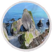 Nohoval Cove - Ireland Round Beach Towel