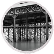 North Pier Blackpool Round Beach Towel